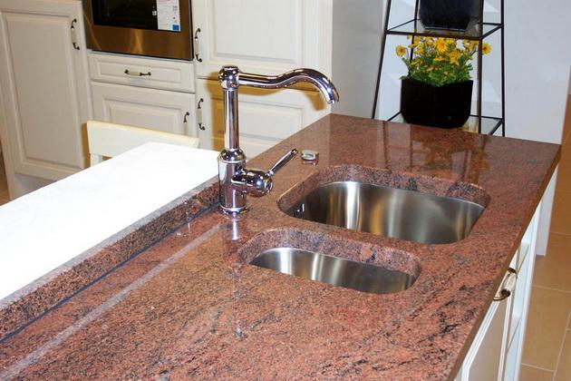 Küchenarbeitsplatte Naturstein Küche marmor optik