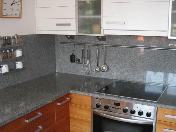 Küchenarbeitsplatte Naturstein Küche grau marmor optik