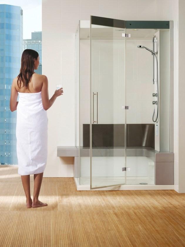 Dampfbäder Badezimmer Dampfbad Dusche Frau