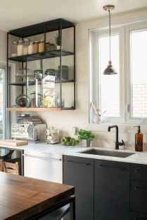 54 rustic kitchen decor with open shelves ideas