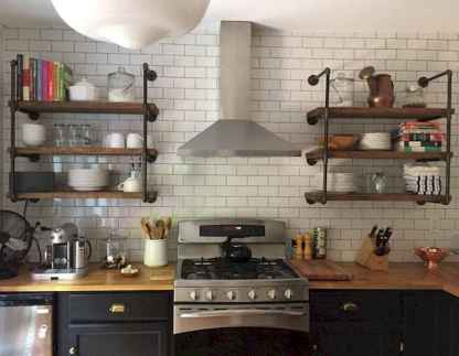69 rustic kitchen decor with open shelves ideas