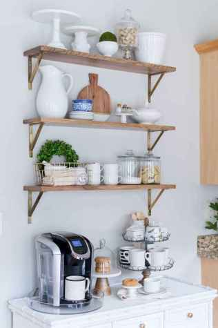 77 rustic kitchen decor with open shelves ideas
