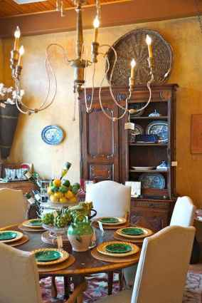 79 fancy french country dining room decor ideas
