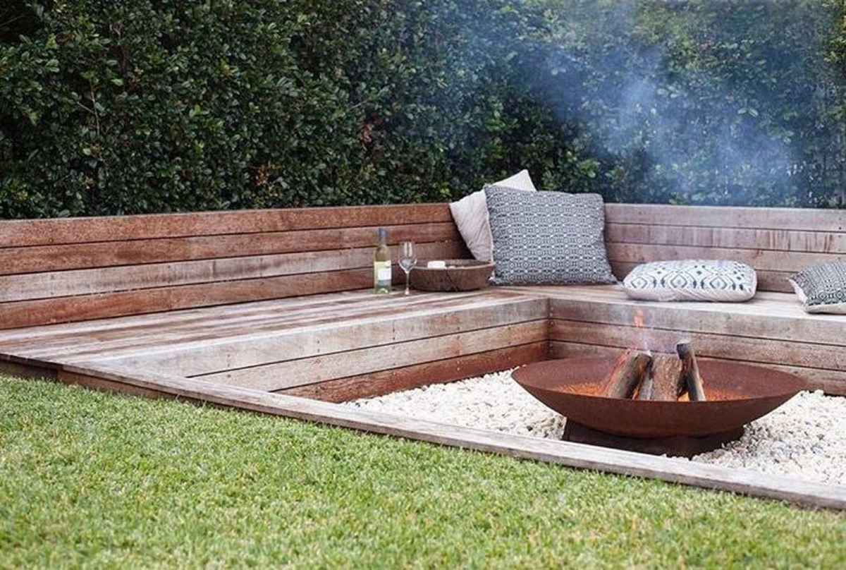 54 cozy outdoor fire pit seating design ideas for backyard