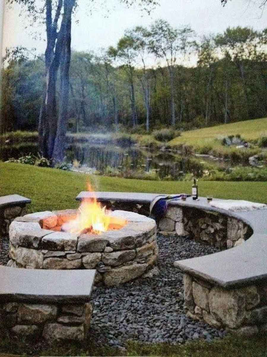 79 cozy outdoor fire pit seating design ideas for backyard