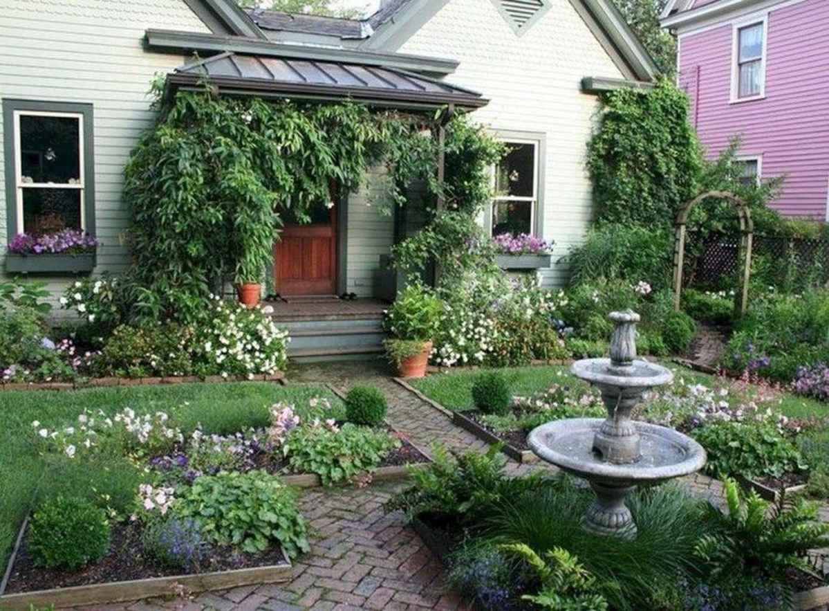 95 beautiful front yard cottage garden inspiration ideas