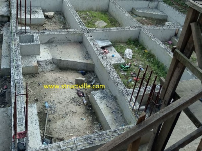 Reinforced concrete beam and pile cap