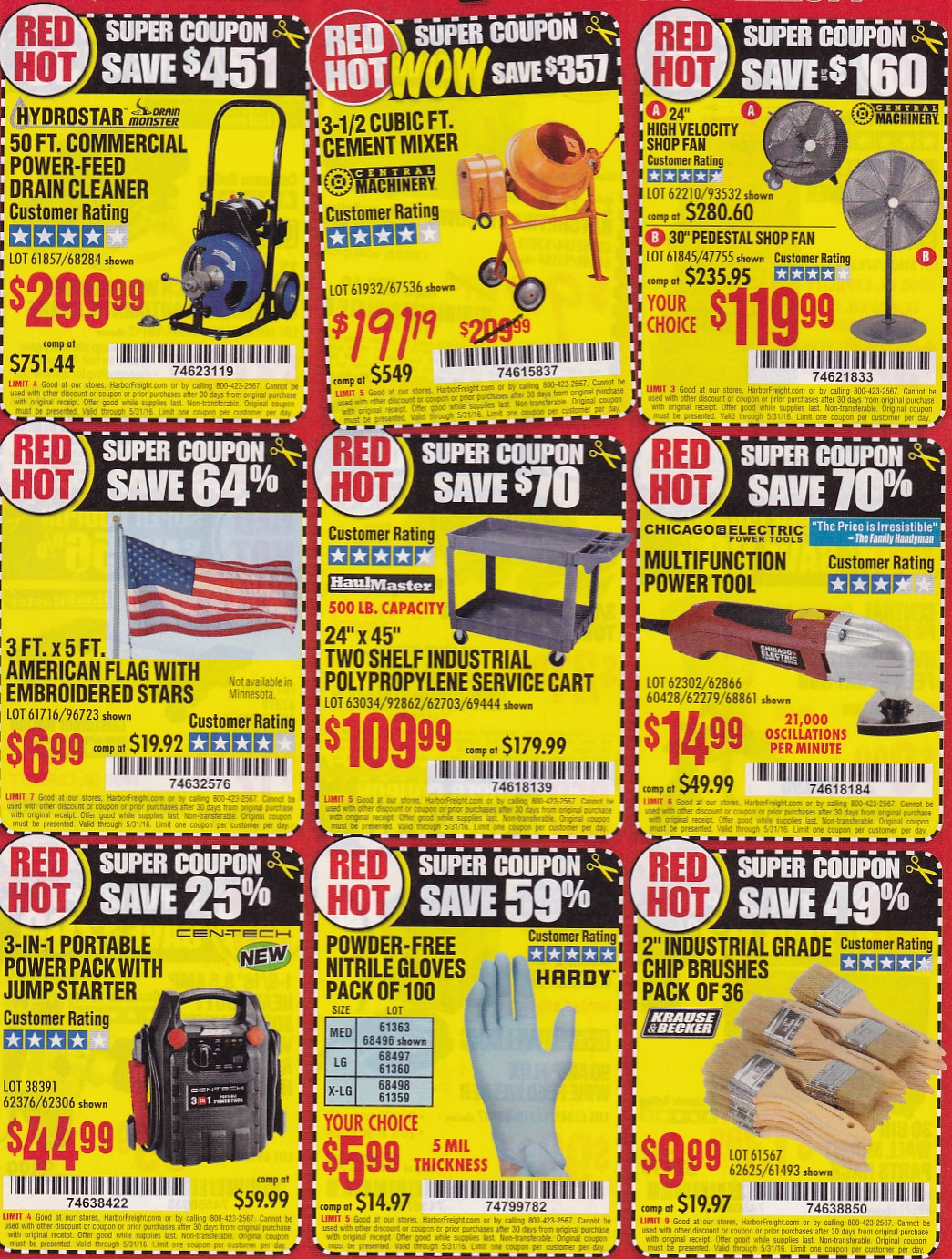Harbor Freight Coupons Expiring 5/31/16 – Struggleville