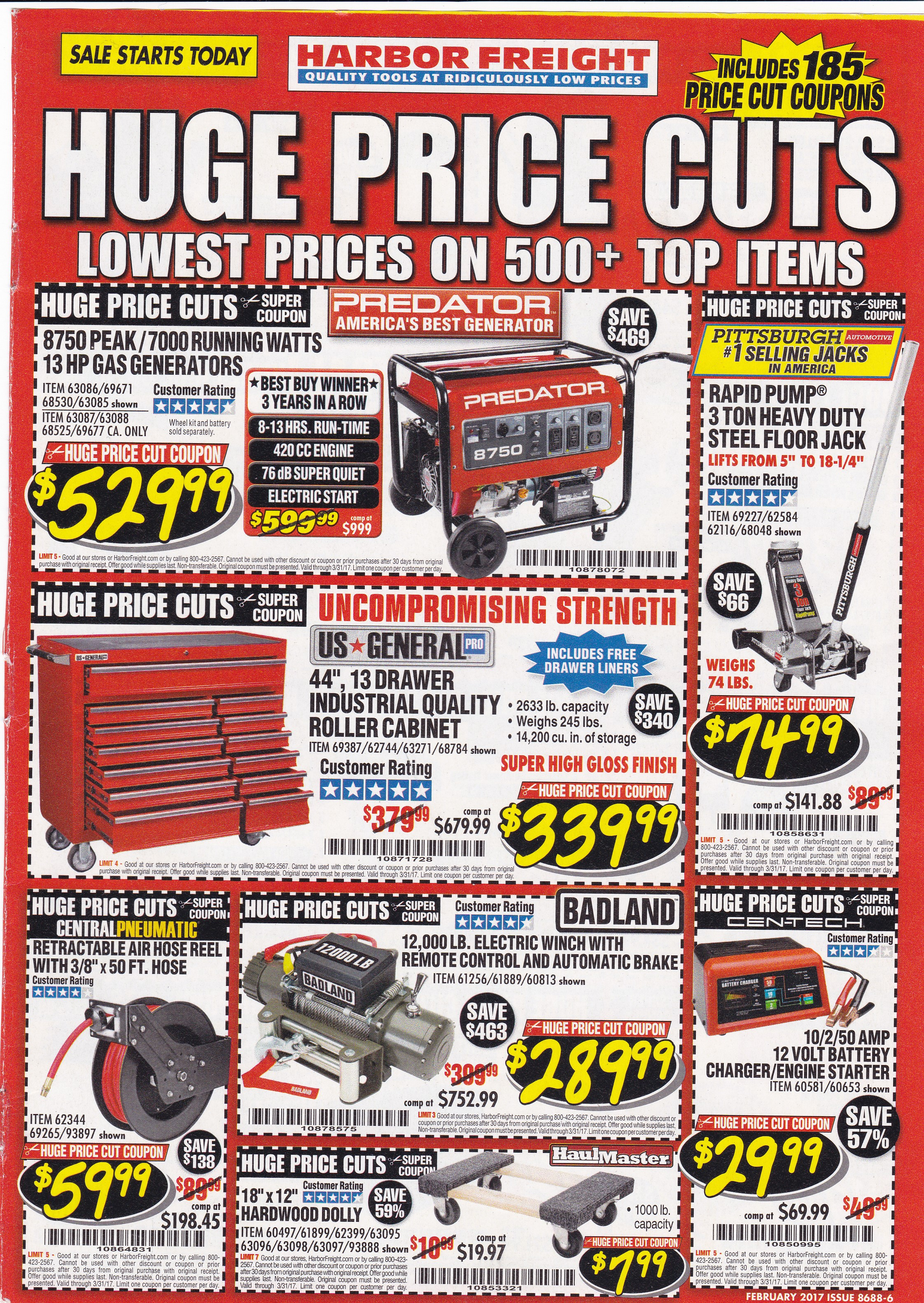 At Harbor Freight Tools we strive to deliver uncompromising value to our customers by providing quality tools at ridiculously low prices. We also take pride in communicating timely information about store events, sales and promotions through various online platforms. With that said our blog will be on a temporary hiatus as we discover new ways of providing our customers with exciting, fresh.