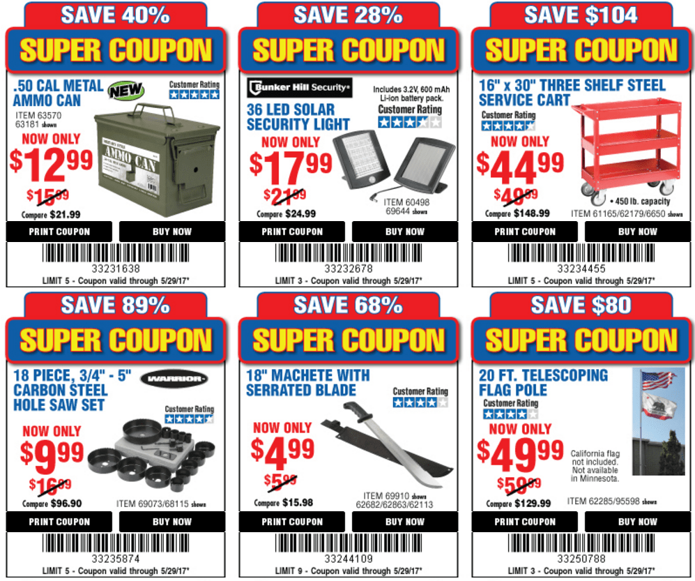 Harbor Freight 25% Off Coupon + 21 Super Coupons