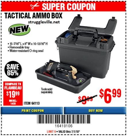Tactical Ammo Box Expires 7 1 18 64113 Struggleville