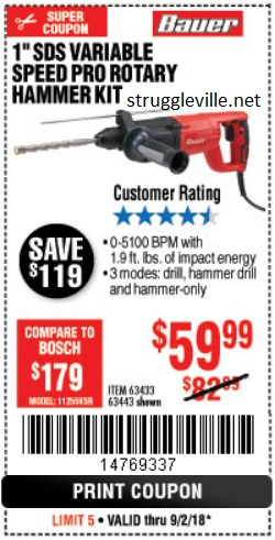 Harbor Freight: NEW PRODUCT ALERT: The Bauer Power Tools