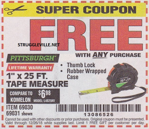 Harbor Freight Free Item Coupons!