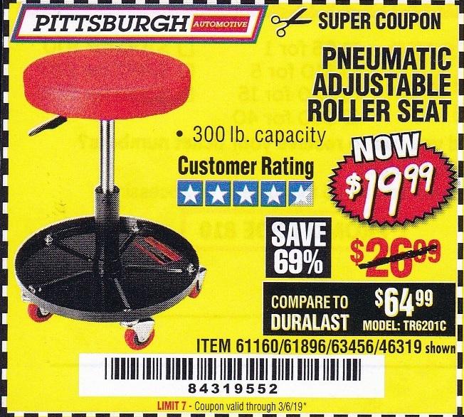 Incredible Pneumatic Adjustable Roller Seat Expires 3 6 19 61160 Ibusinesslaw Wood Chair Design Ideas Ibusinesslaworg