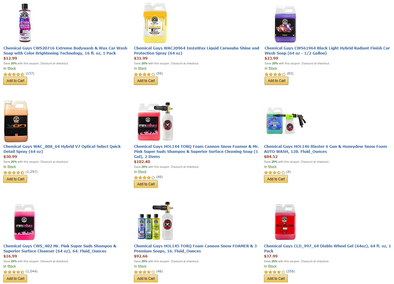 graphic relating to Mr Wash Coupons Printable named Amazon: Help you save 20% Upon More than 50 Motor vehicle Clean / Outlining Resources And