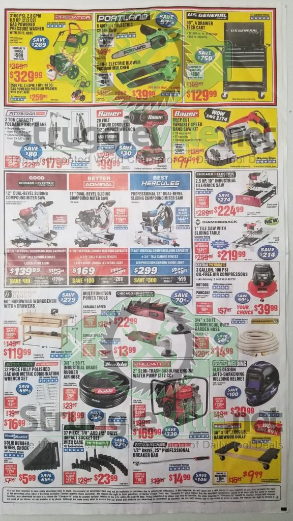 Harbor Freight June parking lot sale ad page 3