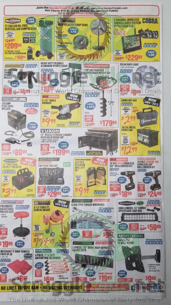 Harbor Freight June parking lot sale ad page 4