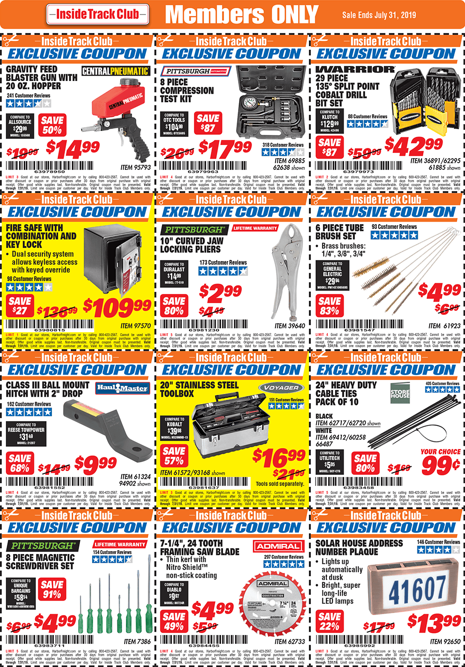 Harbor Freight Inside Track Club Coupons – July 2019