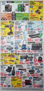 Harbor Freight August parking lot sale ad page 3