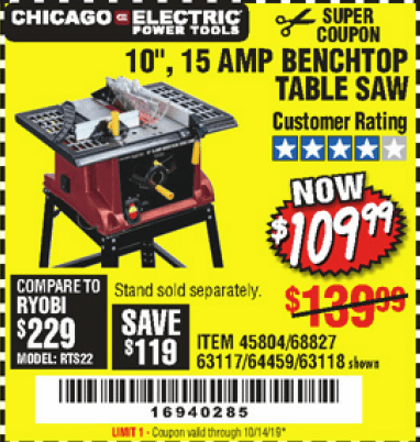 45 New Harbor Freight Coupons! – Struggleville