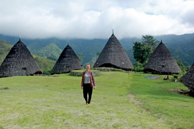 Wae Rebo kmeň na ostrove Flores