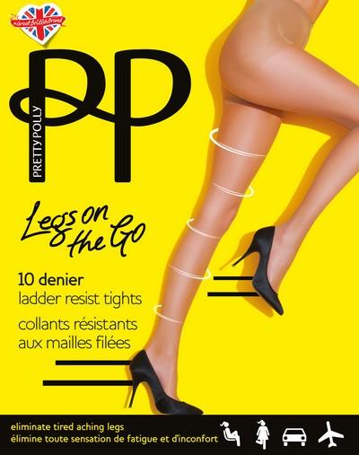 Feinstrumpfhose mit leichter Stützwirkung, resistent gegen Laufmaschen Legs on the Go von Pretty Polly
