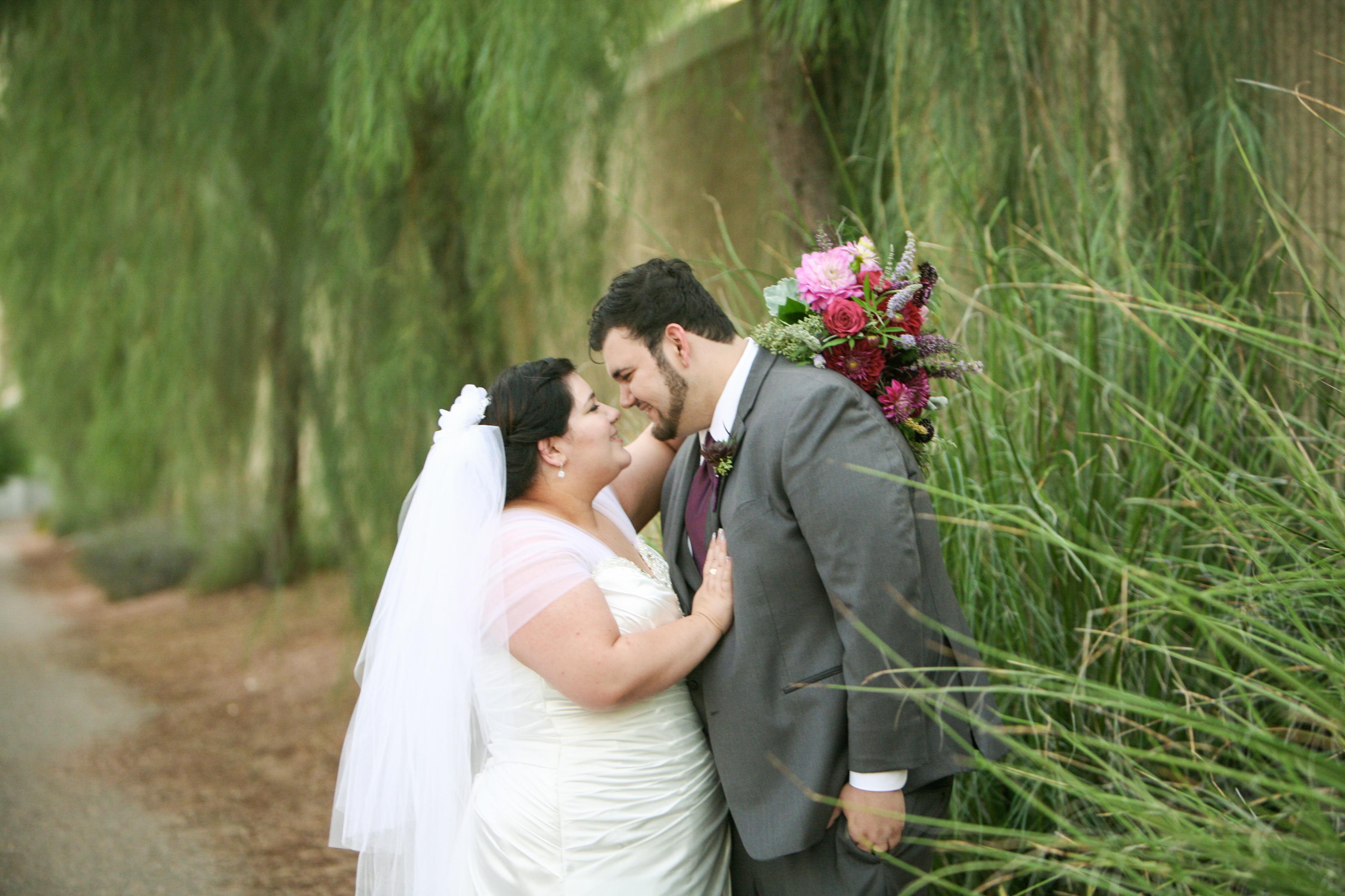 Haley's Satin Aline Wedding Gown