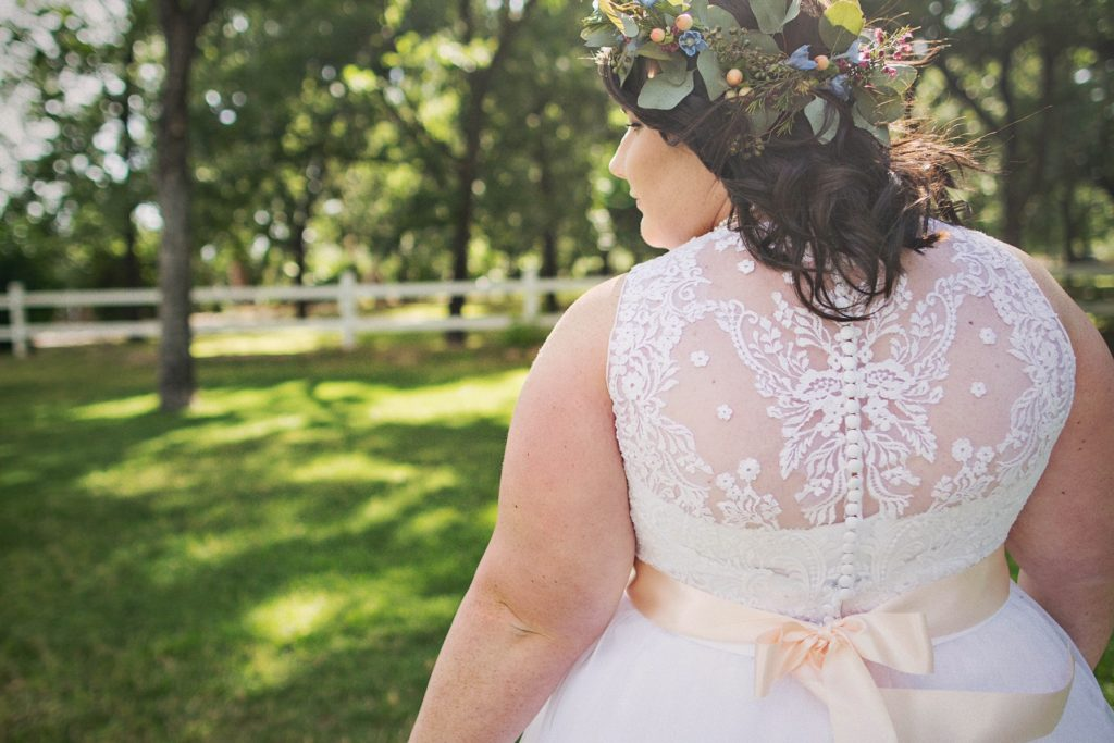 Sarah's Vintage Inspired Lace And Tulle Aline Wedding