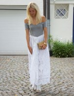 Outfit-Post: White Maxi Skirt
