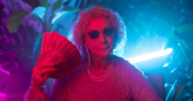photo of an elderly woman flaunting money