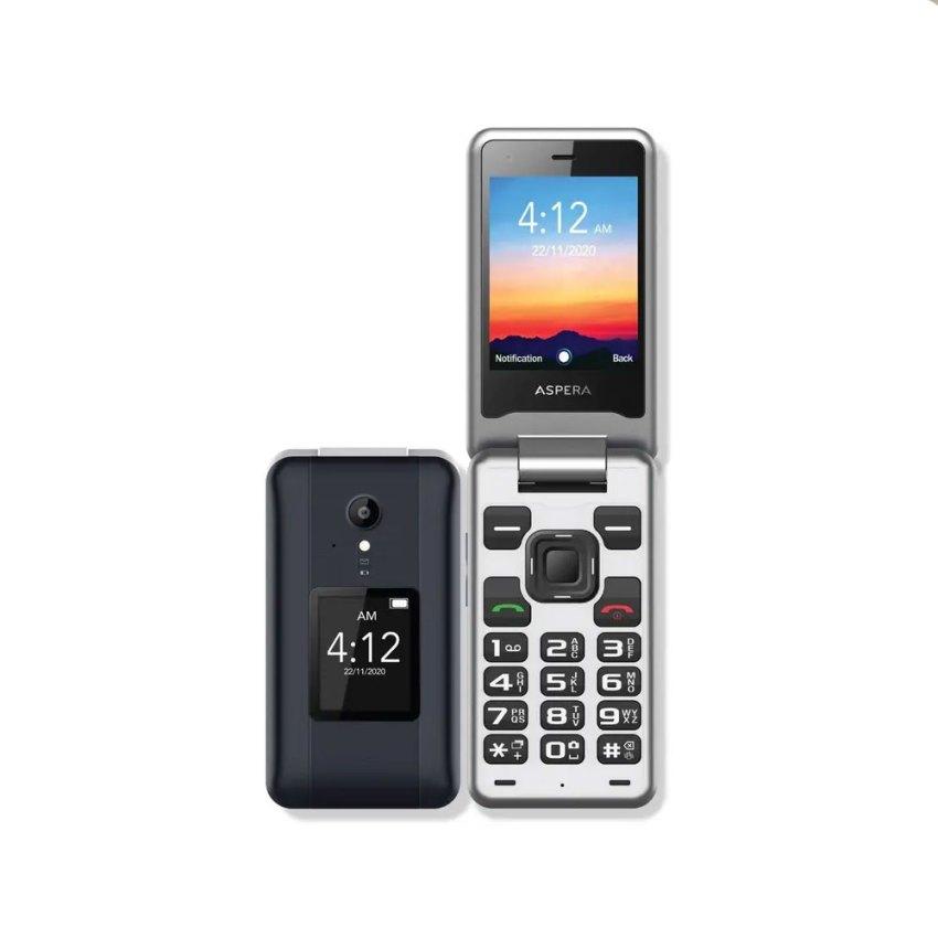 Aspera F42 4G Flip Phone - Titanium