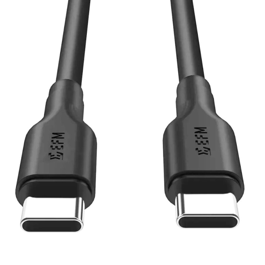 EFM-57W-Dual-Port-Car-Charger-With-Type-C-to-Type-C-Cable---Black.-pic-1