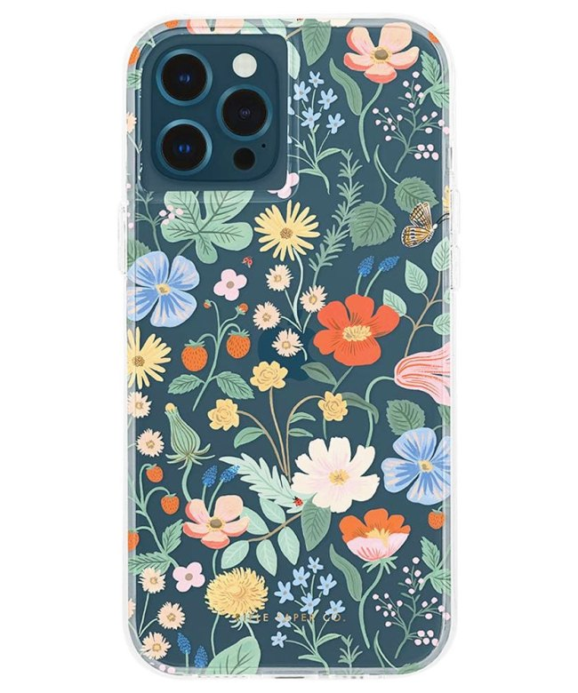 Rifle-Paper-Co.-Case-for-iPhone-12-and-12-Pro-(6.1)---Clear-Strawberry-Fields