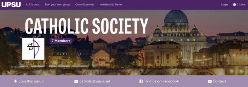 Portsmouth Catholic Society Banner