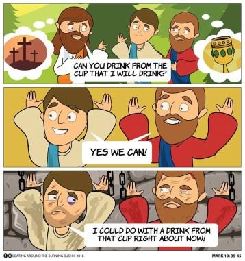 Cartoon James and John