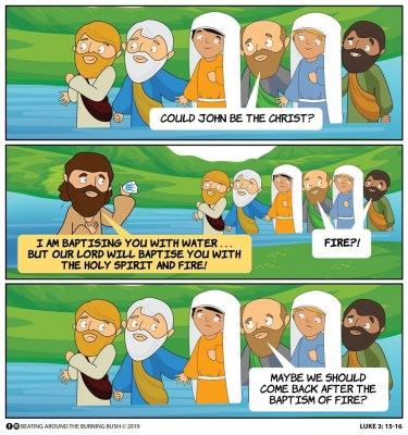 Cartoon JESUS- Baptism