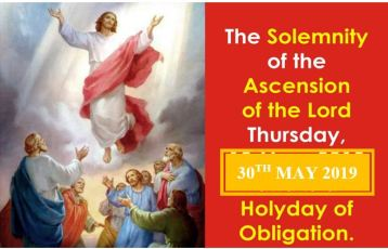 On 30th May 2019 we celebrate The Feast of the Ascension of the Lord