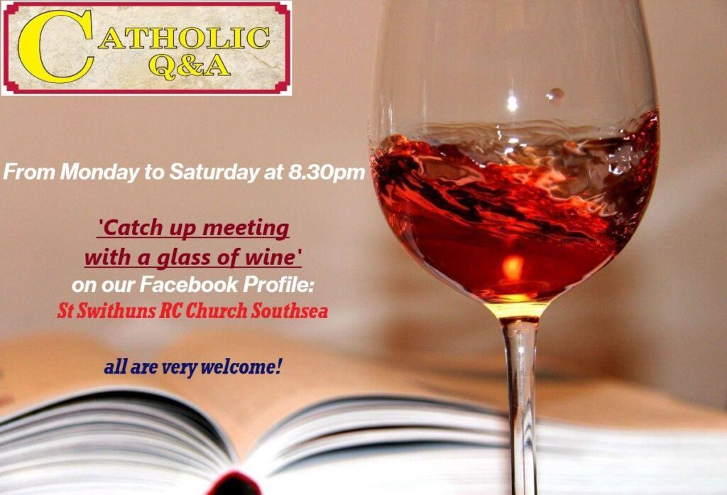 ONLINE – Join Father Marcin for a Q&A and a Glass of Wine !