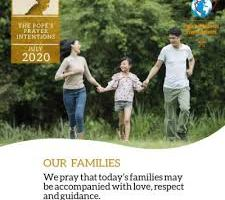 Comment - Pope's Prayer Intentions for July 2020: Our Families