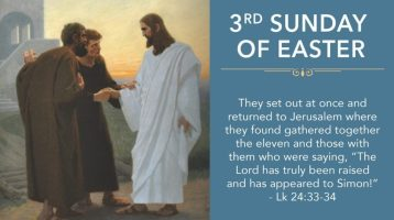 Newsletter: 18th April 2021 -3rd Sunday of Easter B