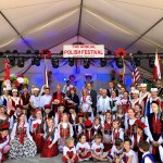 Students sing at the Houston Polish Festival