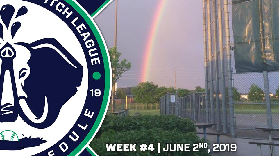 June 2nd: Rain Out Schedule | Week 4