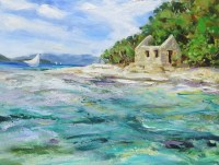 Tortola Sloop and Whistling Cay Guardhouse - Sailing to Freedom
