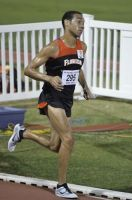 Eduardo Garcia ran a personal record and set an unofficial V.I. national record in the 3000m