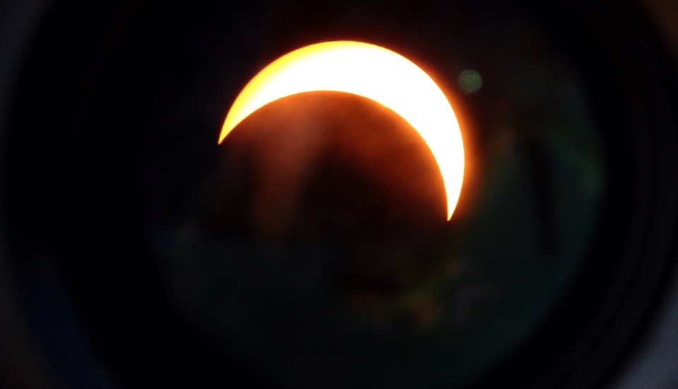 View of the solar eclipse in the Virgin Islands. (Bill Creque photo)