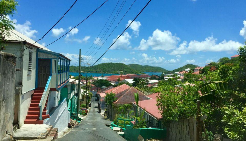 The view down Commandant Gade in Charlotte Amalie on St. Thomas. (Kelsey Nowakowski photo)