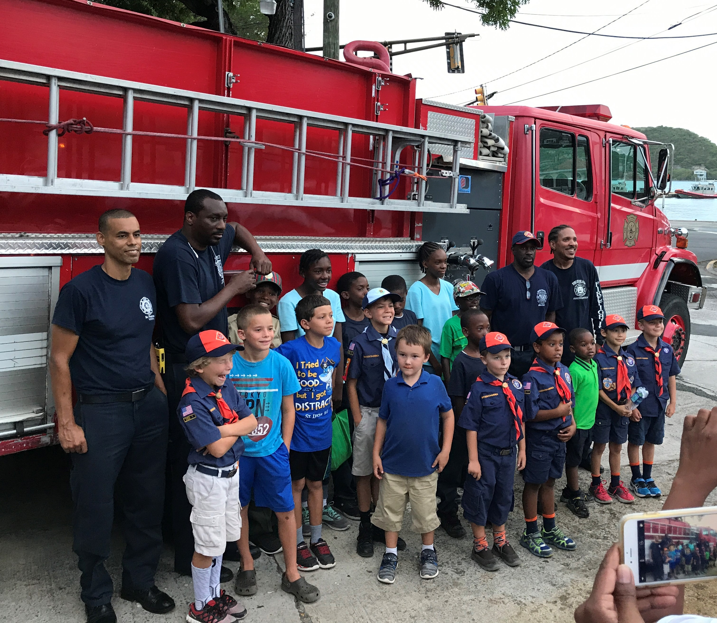 V I Fire Service Brings In Cub Scouts For A Tour