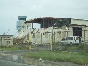 After Hurricane Marina struck St. Croix, the airport's control tower appears undamaged. (V.I. National Guard photo)