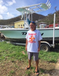 Douglas McLean lost his boat – which was his home – in Hurricane Irma.
