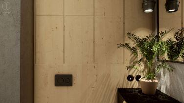 Projekt nowoczesnego wnętrza kawalerki w Gdyni - Projekt: Pracownia STTYK, Joanna Polewczak, Natalia Wańkowicz - Wizualizacja 20